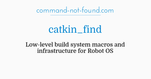 command-not-found com – catkin_find