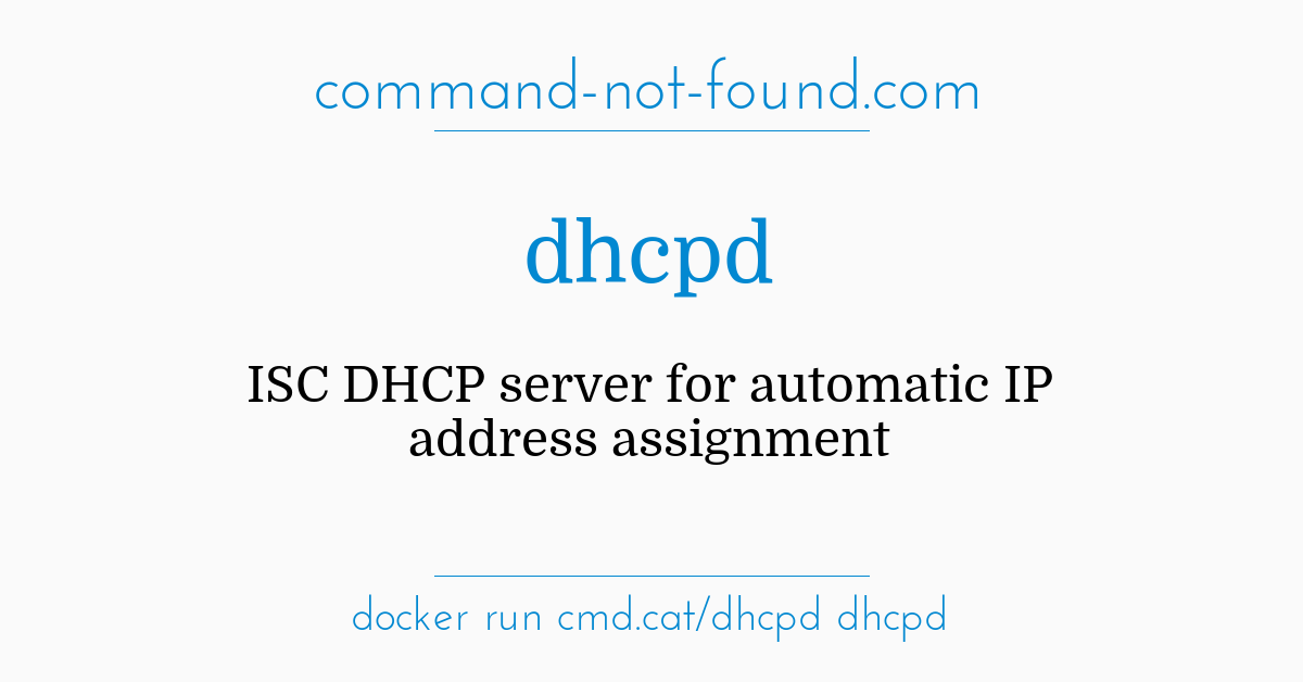 command-not-found com – dhcpd