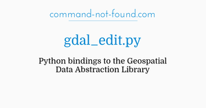command-not-found com – gdal_edit py