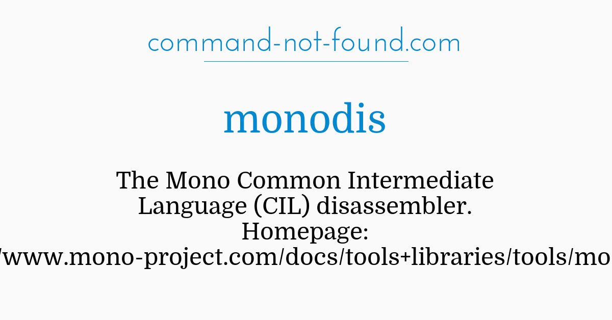 command-not-found com – monodis