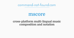 command-not-found com – mscore