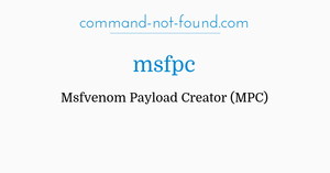 command-not-found com – msfpc