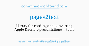 command-not-found com – pages2text