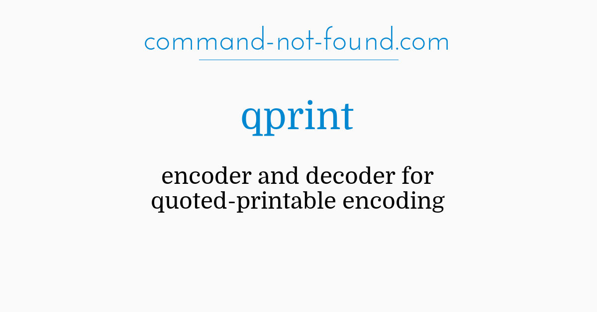 photograph relating to Quoted Printable Decoding titled  qprint