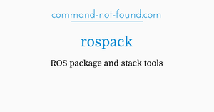 command-not-found com – rospack